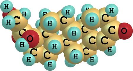 Hydrocortisone molecular structure