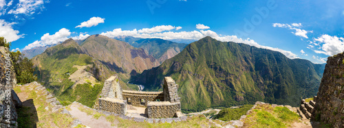 Panorama of Mysterious city - Machu Picchu, Peru,South America