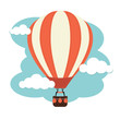 Hot Air Balloon and Clouds