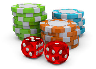 Poker Chips - 3D