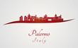 Palermo skyline in red