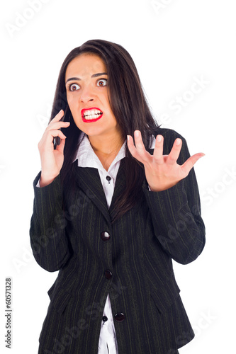 Hystecal Woman on Phone Yelling