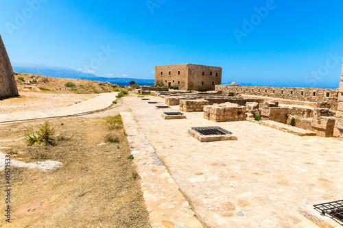 Ruins of old town in Rethymno, Crete, Greece