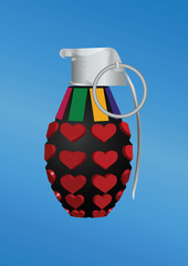Heart-shape grenade icon
