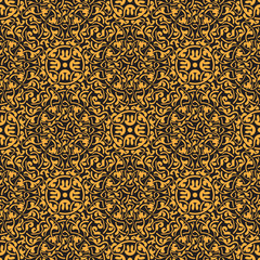 Yellow seamless pattern