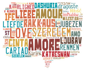 Tag cloud love and Valentine's Day related