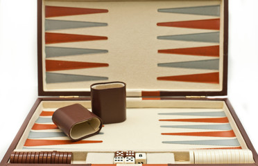 Backgammon board game set