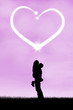 Silhouette of romantic couple 1