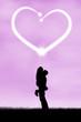Silhouette of romantic couple 1