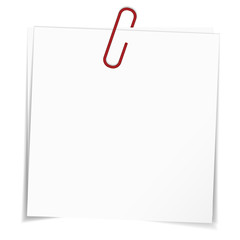 Business Notes Red Paper Clip