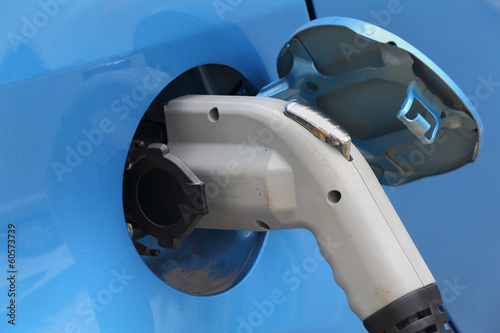 Electric Car Plug Close Up