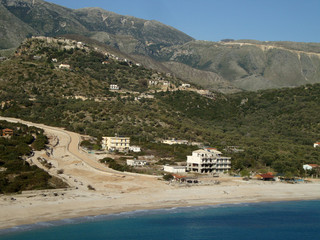 Road in progress, Livadi Beach, Himara, Albania