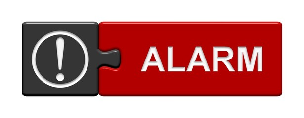 Puzzle-Button grau rot: Alarm