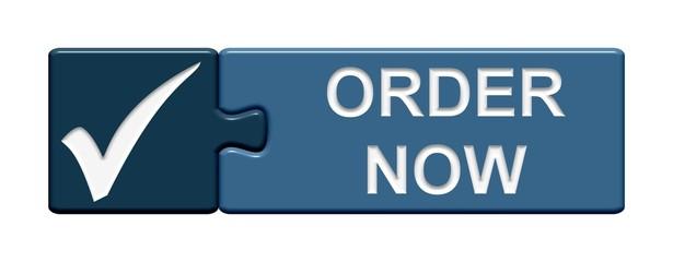 Puzzle-Button blau: Order now