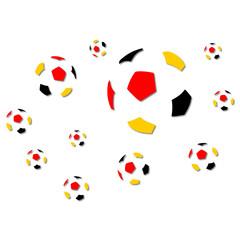 Fußball Vektor dreifarbig