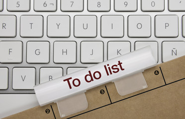 To do list. Keyboard