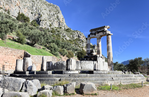 The Tholos at the sanctuary of Athena Pronoia,Delphi,Greece