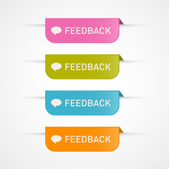 Vector Feedback Icons Isolated on White Background