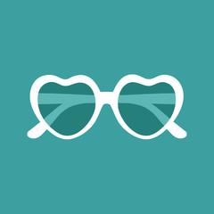 Illustration of heart shaped sunglasses
