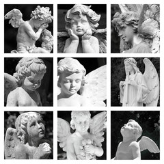 cemetery angels collage