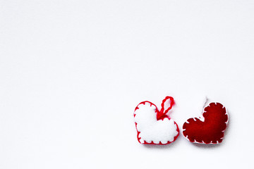 Red and White Hearts for San Valentine