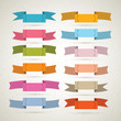 Colorful Retro Vector Ribbons, Labels Collection