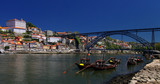 Porto (Portugal), river Douro and Dom Luis bridge