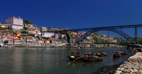 Porto (Portugal), river Douro and Dom Luis bridge