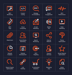 Outline icon set