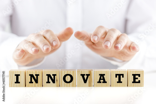 The word - Innovate - on wooden blocks