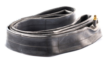 Mountain bike inner bicycle tube flat without air