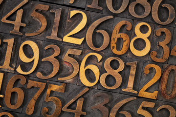 wood type number abstract