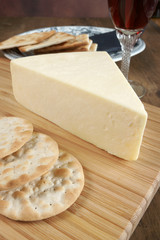 Wensleydale a traditional British cheese made in Yorkshire
