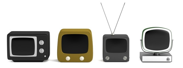 realistic 3d render of retro TV set