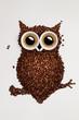 Leinwandbild Motiv Coffee owl.