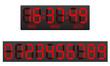 scoreboard digital countdown timer vector illustration - 60579500