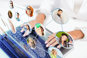 businesswoman using her laptop computer