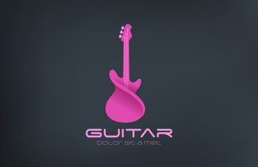 Logo Electro Guitar design. Alternative music concept