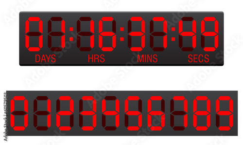 scoreboard digital countdown timer vector illustration - 60579503