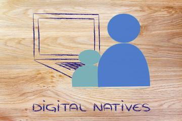 computer, IT and digital natives