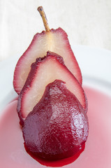 Pear in wine