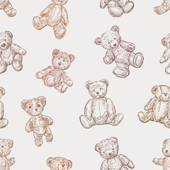 pattern of teddy bears