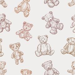 pattern of teddy bears