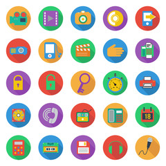 Business flat style icons set, vector format
