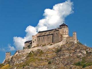 Basilika von Valeria oberhalb von Sitten im Wallis