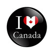 I Love Canada button