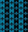 Black and Blue Fleur De Lis Textured Fabric Background