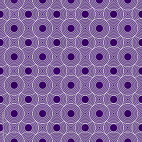 Purple and White Circles Tiles Pattern Repeat Background