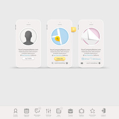 Infographics design UI Elements with icons for templates