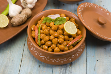 Chana Masala or Spicy Chickpeas, Indian Food